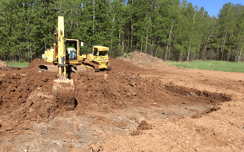 Contact Jeff Simek Construction for top soil removal